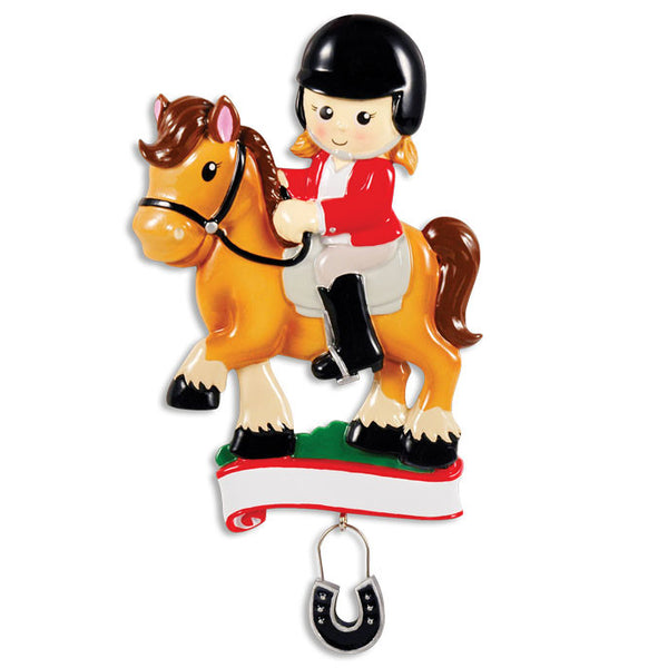 OR1381 - Horse Rider Personalized Christmas Ornament