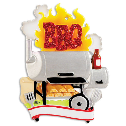 OR1382 - BBQ Smoker Personalized Christmas Ornament