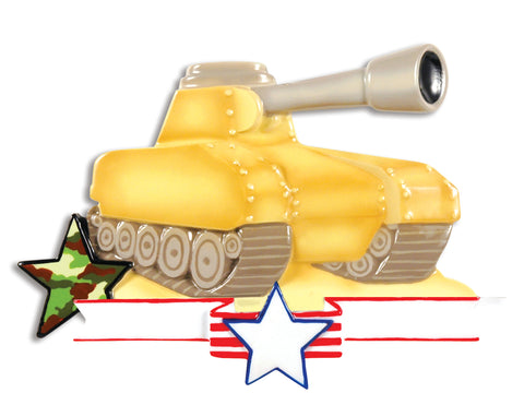 OR1397 - Army Tank Personalized Christmas Ornament
