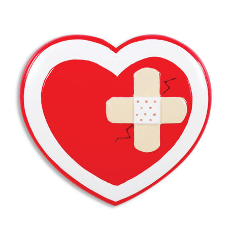 OR1400 - Nurse Heart W/Band Aid Personalized Christmas Ornament