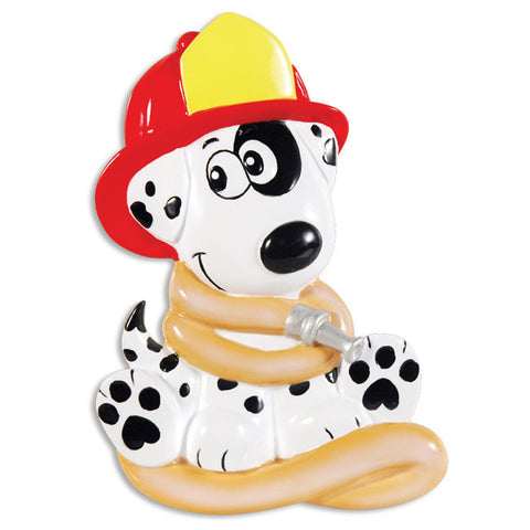 OR1402 - Firehouse Dalmatian Personalized Christmas Ornament