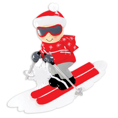 OR1412 - Snow Skier Personalized Christmas Ornament