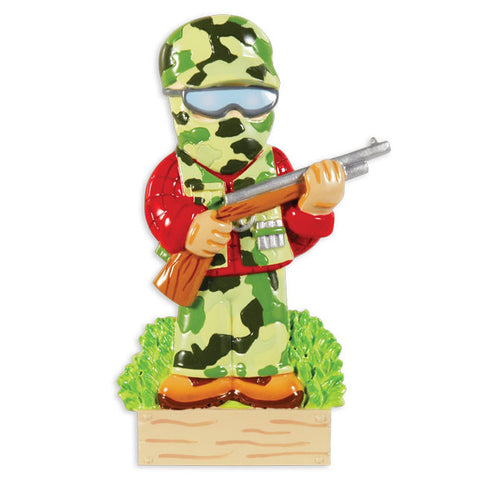 OR1413 - Camo Hunter Personalized Christmas Ornament