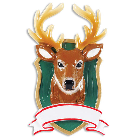 OR1414 - Deer Mount Personalized Christmas Ornament