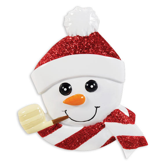 OR1431 - Snowman Face Personalized Christmas Ornament