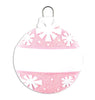 OR1434-P - Christmas Ball (Pink) Personalized Christmas Ornament