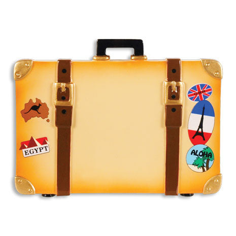 OR1440 - World Travel Trunk Personalized Christmas Ornament