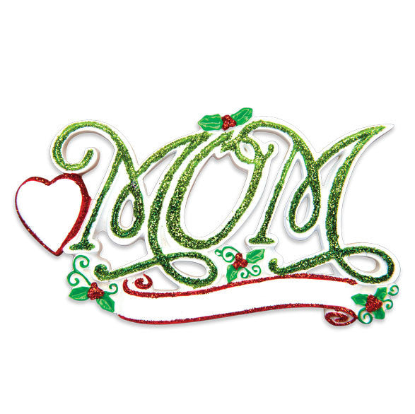 OR1467 - #1 Mom Personalized Christmas Ornament