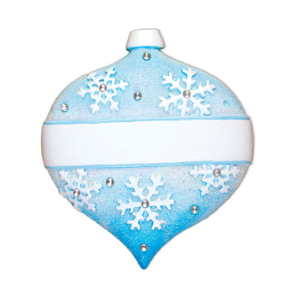 OR1473-A - Frozen Christmas Ball Ornament (6 Light Blue/6 Blue)