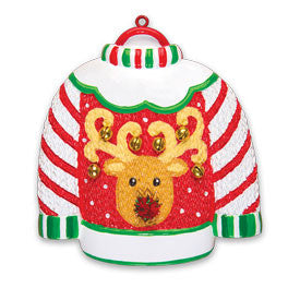 OR1474 - Ugly Sweater Personalized Christmas Ornament