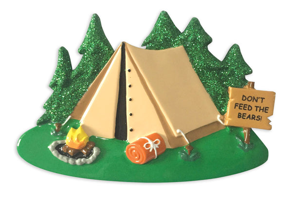OR1475 - Camping Tent Personalized Christmas Ornament