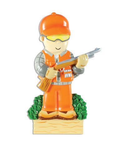 OR1477 - Hunter In Orange Personalized Christmas Ornament