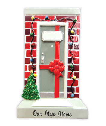OR1478-H - Our New Home Door Personalized Christmas Ornament