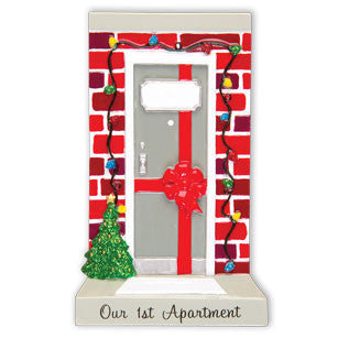 OR1478-A - New Apartment Door Personalized Christmas Ornament