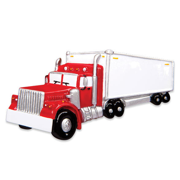 OR1481 - Semi Truck Personalized Christmas Ornament