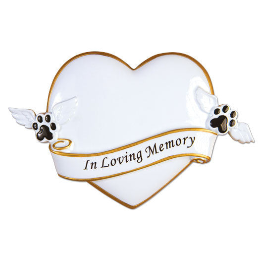 OR1482 - R.I.P Memorial Personalized Christmas Ornament