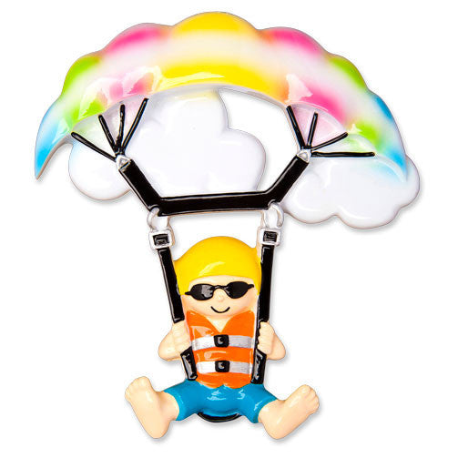 OR1483 - Parasailing Personalized Christmas Ornament