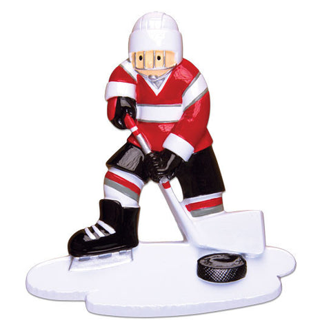 OR1486 - Hockey Player Personalized Christmas Ornament