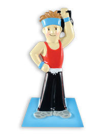 OR1487-M - Workout Male Personalized Christmas Ornament