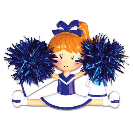 OR1488-B - Cheerleader(Blue) Personalized Christmas Ornament