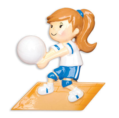 OR1489-G - Volleyball Girl Personalized Christmas Ornament