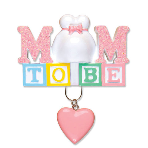 OR1491 - Mom To Be Personalized Christmas Ornament