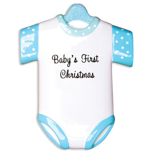 OR1496-B - New Boy Onesie Personalized Christmas Ornament
