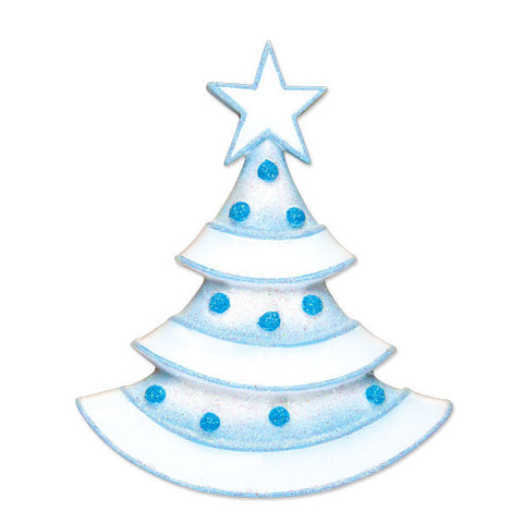 OR1497-B - New Lt. Blue Xmas Tree Personalized Christmas Ornament