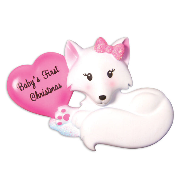 OR1501-P - Baby Fox (Pink) Christmas Ornament