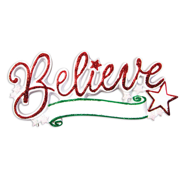 OR1505 - Believe Christmas Ornament