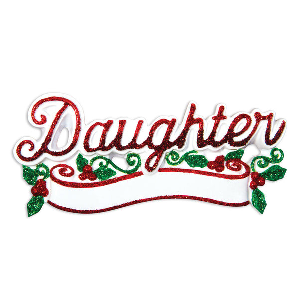 OR1511 - New Daughter Christmas Ornament