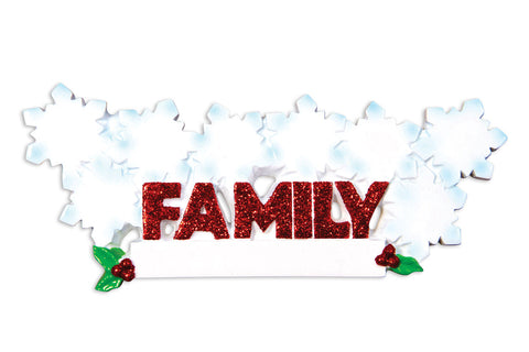 OR1524-8 - Word Family (with 8 Snowflakes) Christmas Ornament