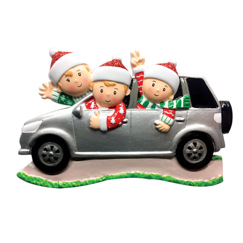 OR1526-3 - Suv (family of 3) Christmas Ornament