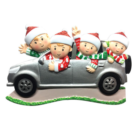 OR1526-4 - Suv (family of 4) Christmas Ornament