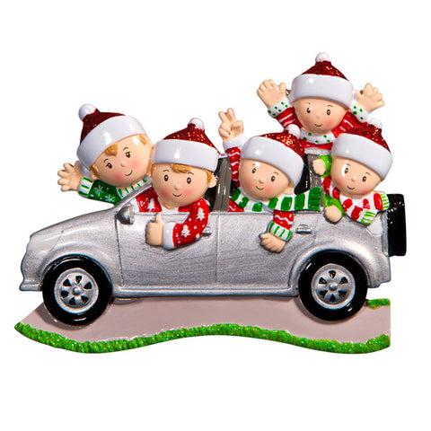OR1526-5 - Suv (family of 5) Christmas Ornament