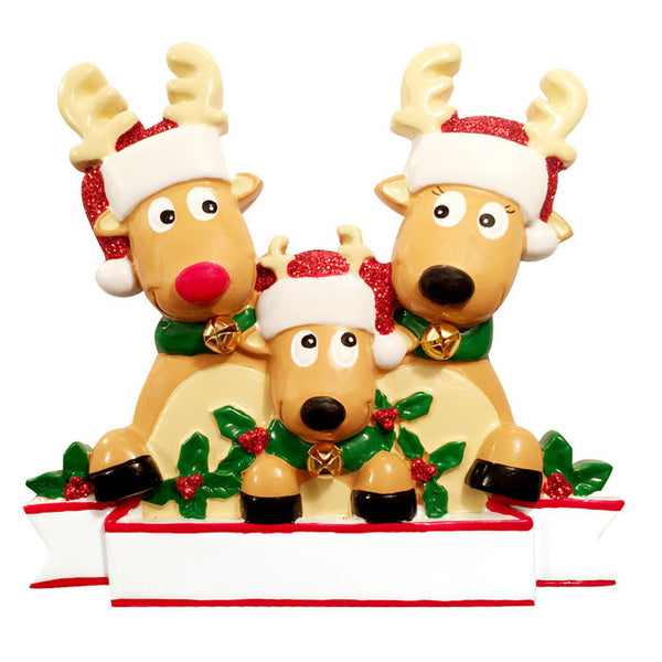 OR1527-3 - New Reindeer (family of 3) Christmas Ornament