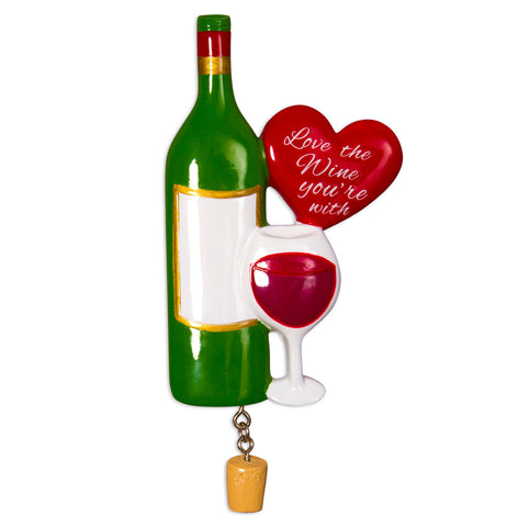 OR1531-WINE3 - Love The Wine You're With Christmas Ornament