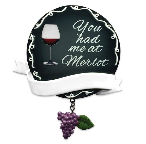 OR1533 - You Had Me At Merlot Christmas Ornament