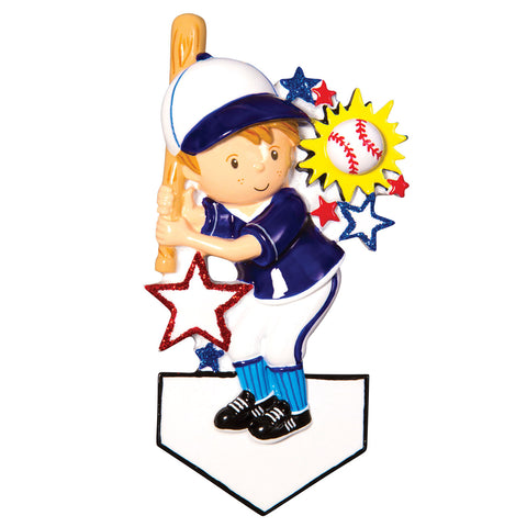 OR1552 - Baseball Player Christmas Ornament