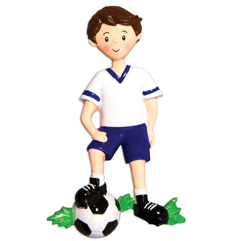 OR1554-B - Soccer Player (Boy) Christmas Ornament