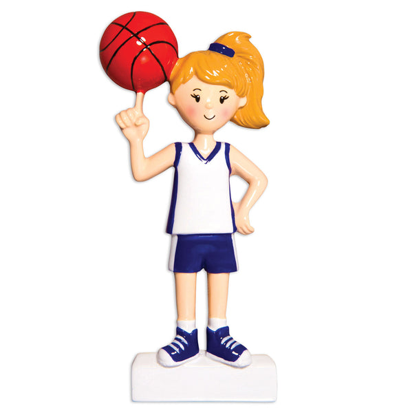 OR1556-G - Basketball Player (Girl) Christmas Ornament