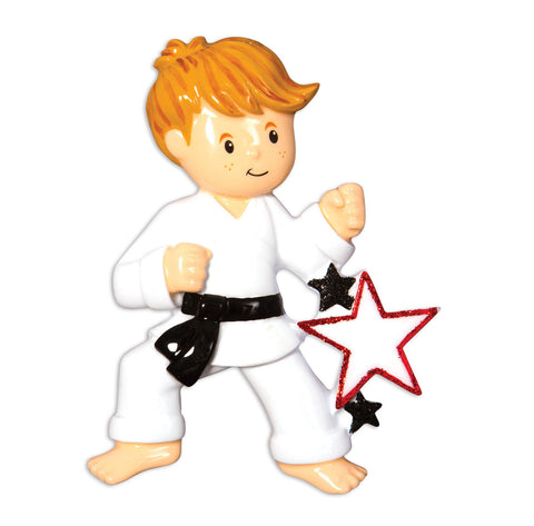 OR1557-B - Karate (Boy) Christmas Ornament