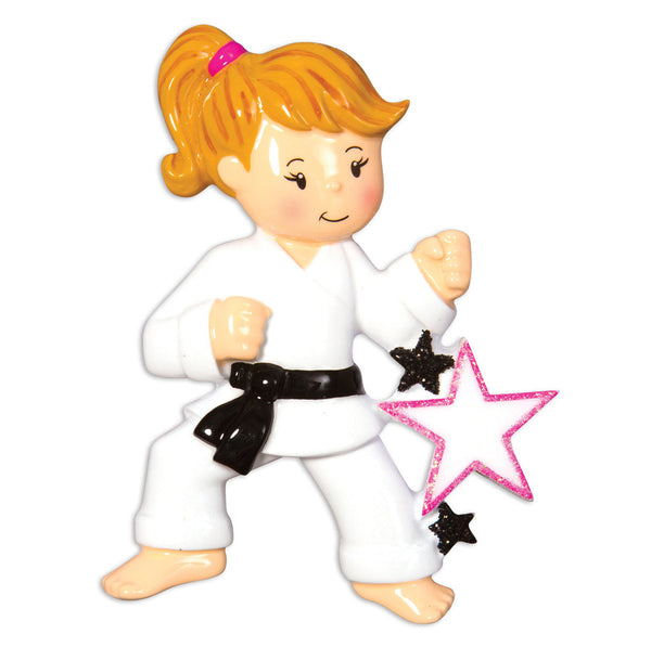 OR1557-G - Karate (Girl) Christmas Ornament