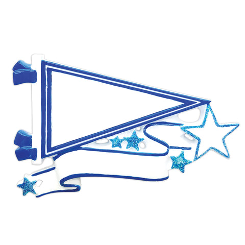 OR1558-BL - Pennants (Blue) Christmas Ornament