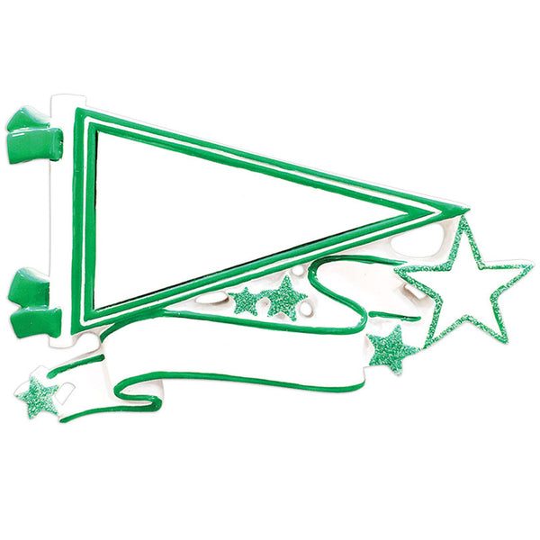 OR1558-GR - Pennants (Green) Christmas Ornament