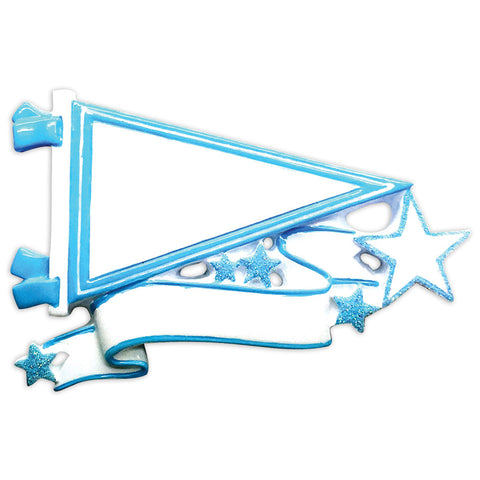 OR1558-LB - Pennants (Light Blue) Christmas Ornament