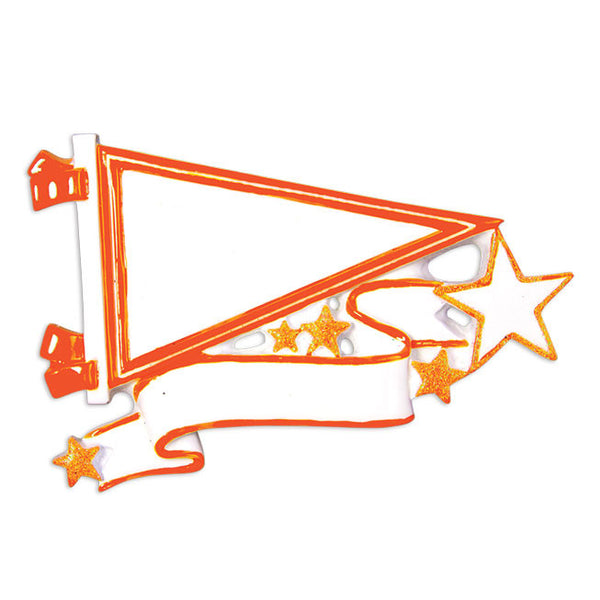 OR1558-OR - Pennants (Orange) Christmas Ornament