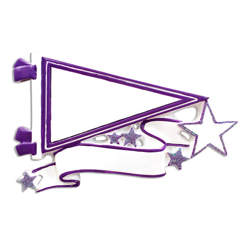 OR1558-PL - Pennants (Purple) Christmas Ornament