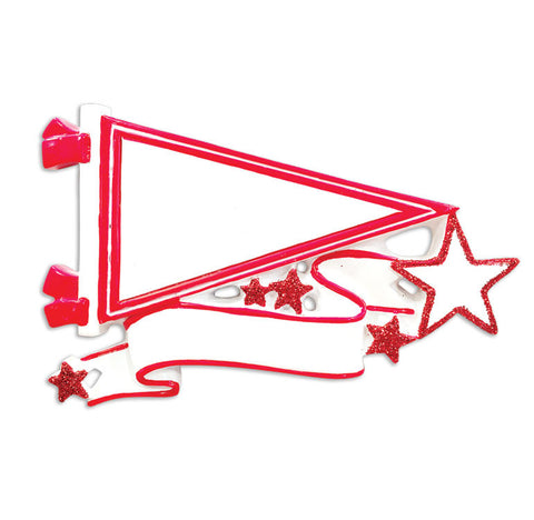 OR1558-RD - Pennants (Red) Christmas Ornament