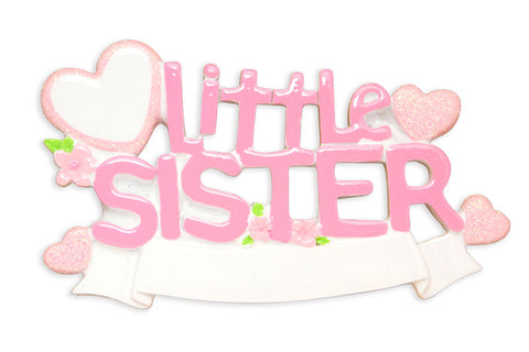 OR1578 - Lil Sister Personalized Christmas Ornament